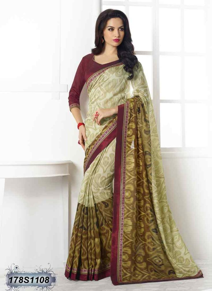 Ravishing Beige and Brown Coloured Linen Casual saree