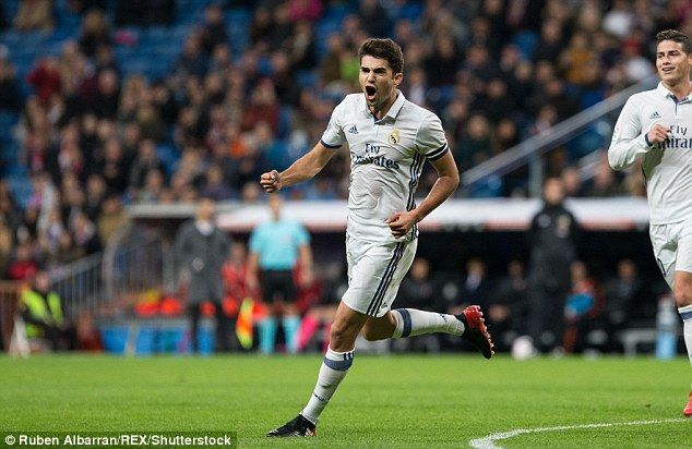 Enzo Zidane came off the bench to score his first goal for Real Madrid againstCultural Leonesa