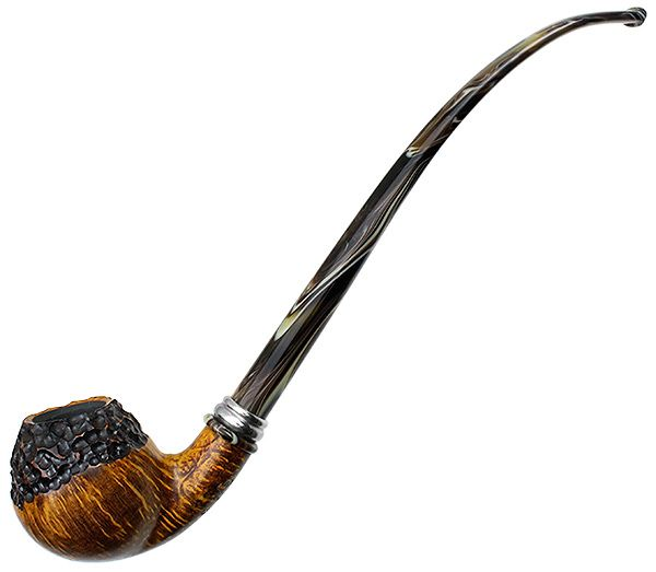 Neerup Tobacco Pipes: Classic Partially Rusticated Churchwarden