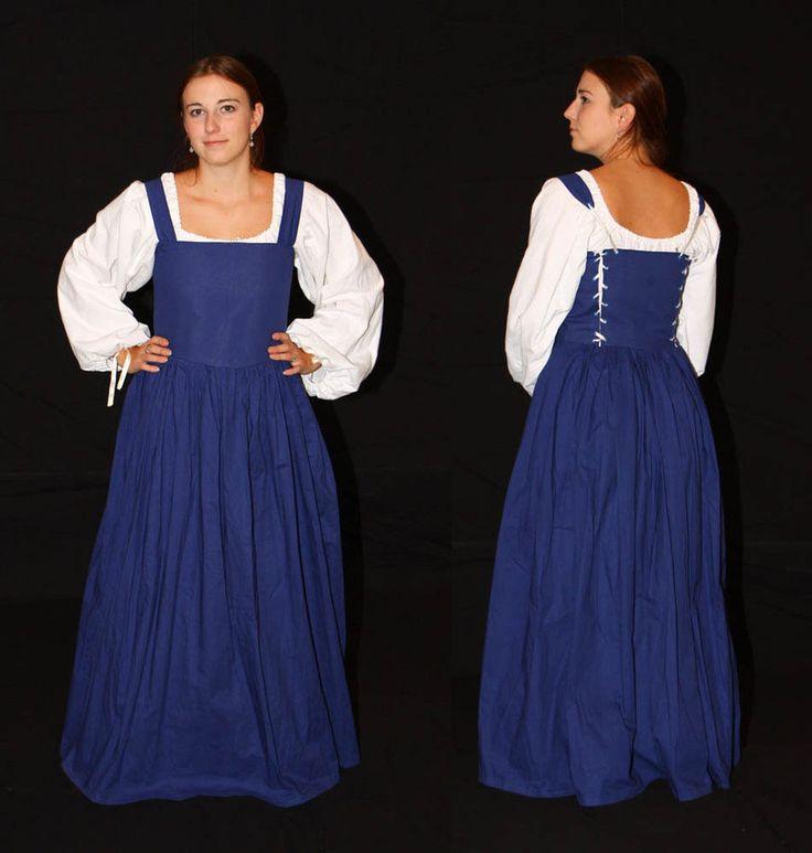 Blue peasant dress by Celefindel | Ed's Super Gr8 ...