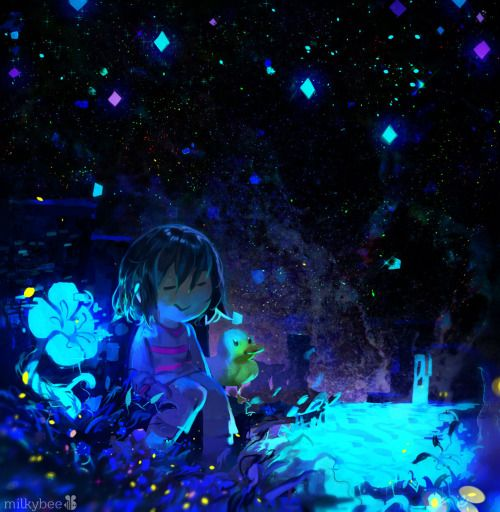 undertale frisk in waterfall - photo #1