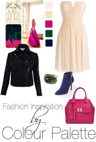 fashion sets inspired by colour palettes
