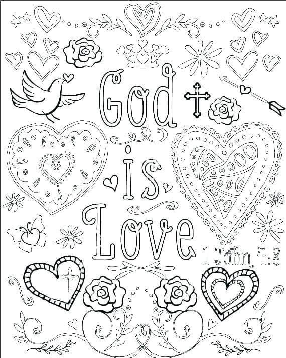Printable Christian Coloring Pages For Kids And Adults Bible Verse Coloring Page Love Coloring Pages Bible Verse Coloring