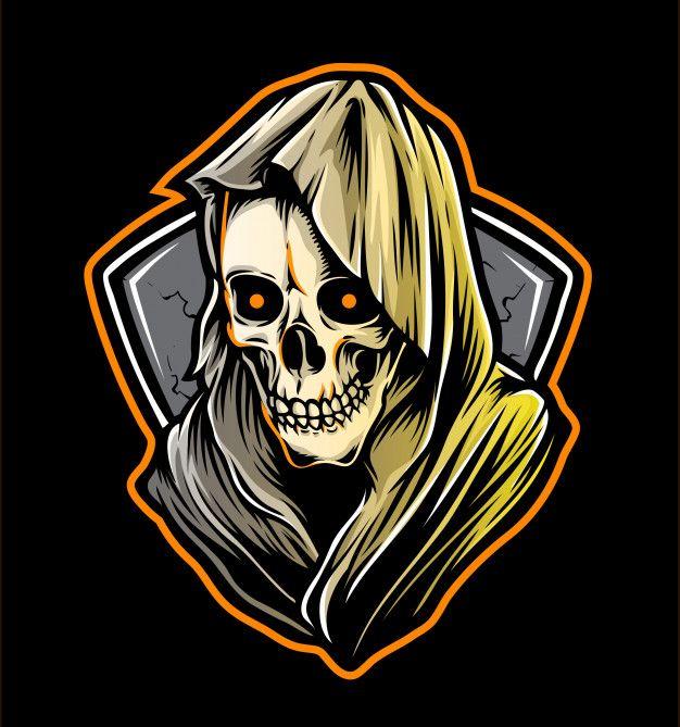 Reaper Skull Logo Skull Logo Logo Design Art Graffiti Characters