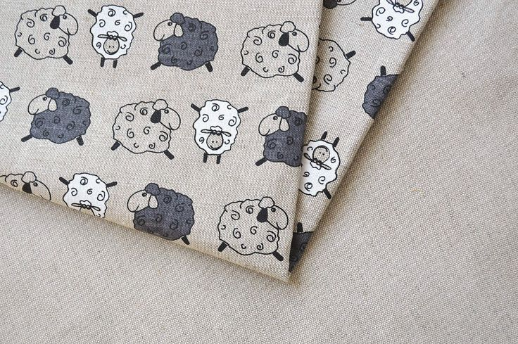Linen sheep fabric 19,68 x 59 inch by DovilesBoutique on Etsy https://www.etsy.com/listing/200111840/linen-sheep-fabric-1968-x-59-inch