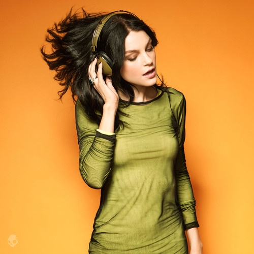 Jessica Stam for SkullCandy headphones.