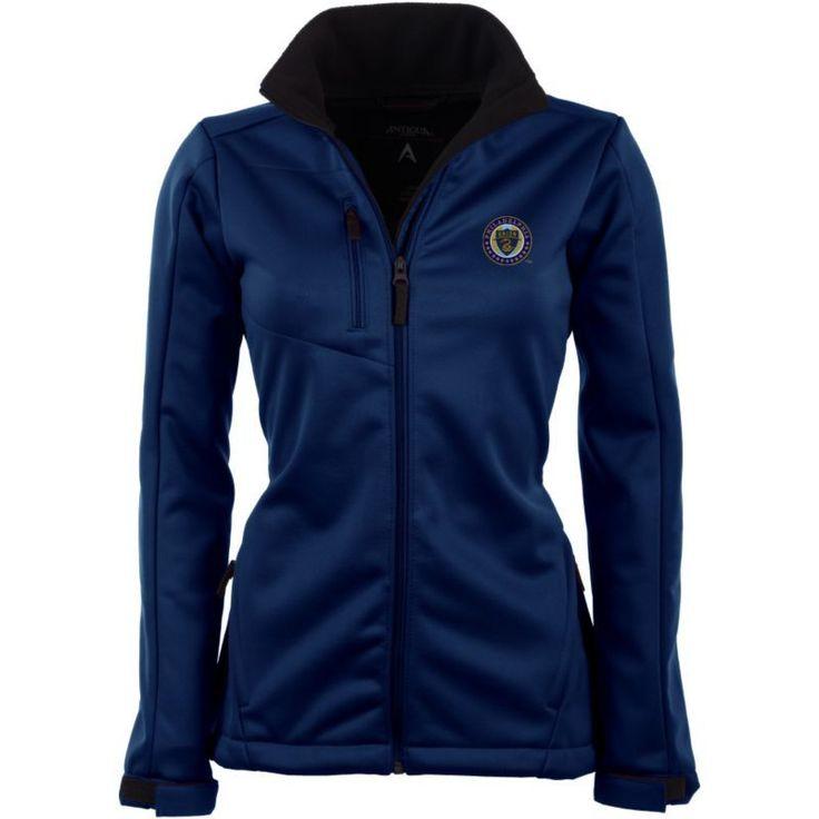 Antigua Women's Philadelphia Union Traverse Navy Soft-Shell Full-Zip Jacket, Size: Medium, Team