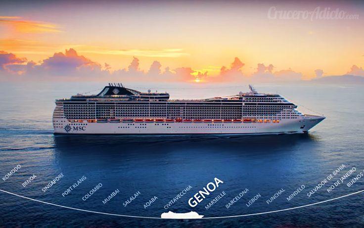 MSC Magnifica dará nuevamente la Vuelta al Mundo en el 2020 como acaba de revelar la naviera MSC Cruceros. Estos son los detalle del gran viaje.