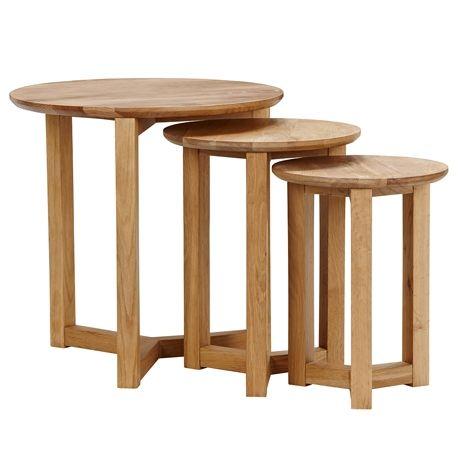 Stockholm Nest of 3 Tables  Oak