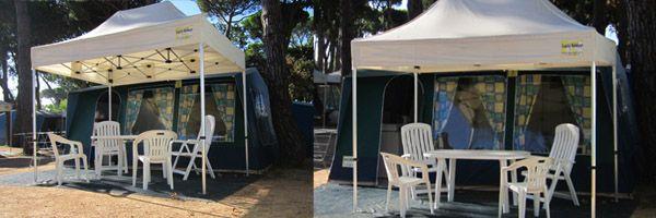 Met wie wil jij graag volgend jaar in een luxe bungalowtent in Spanje vertoeven? Tag hem of haar!