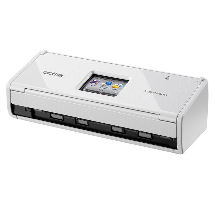 Brother ADS-1600W adalah Scanner Portable A4 dengan kecepatan hingga 18 halaman per menit dilengkapi dengan Auto Document Feeder (ADF), Duplex & Network (Wireless)