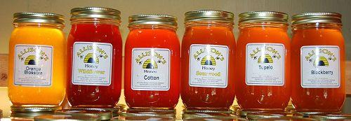 jars of local honey