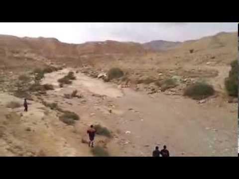 Renace el río Zin, en el desierto de Neguev al sureste de Israel