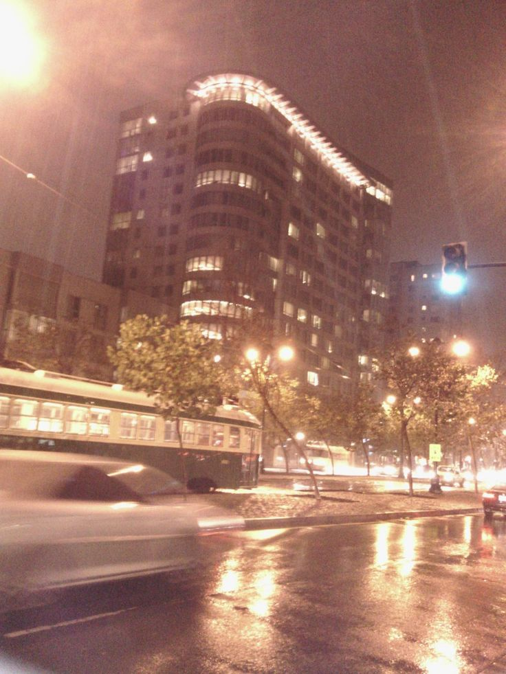 Rainy night, downtown San Francisco, California.  During my trip for History Channel-Ancient Alien's Alien Con; Oct. 2016.  pic by Joseth Moore.