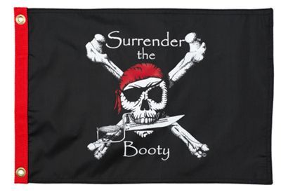 Taylor Made Marine Flag - Surrender The Booty Marine Flag