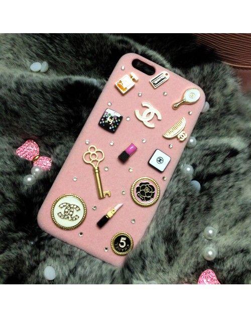 デコケース iPhone8/iPhone7ケース シャネル 可愛いグレー&ピンク Chanelブランド レディース アイフォン8/7プラスジャケットケース 安い 通販