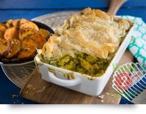 Spinach, Oregano and Spinach Filo Pie
