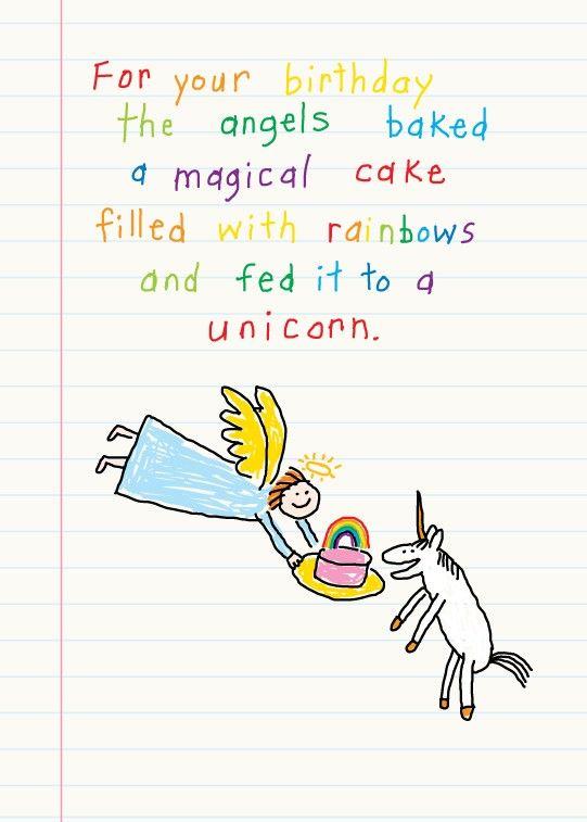 Unicorn Birthday Card Unicorn Birthday Cards Unicorn