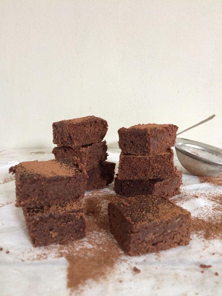 brownies, glutenvrij, suikervrij