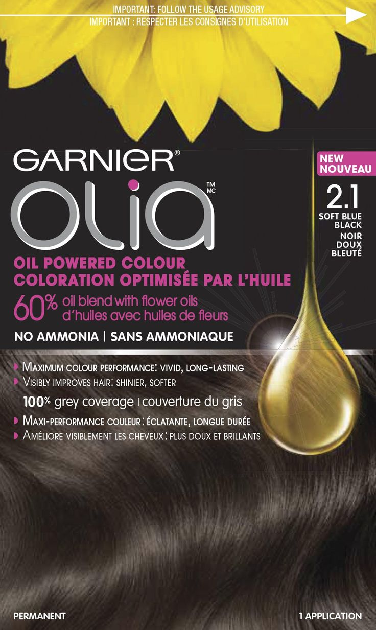 garnier olia oil powered permanent hair color 21 soft blue black oil powered permanent - Coloration Olia Blond