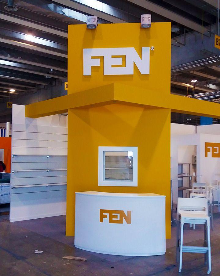 Loghi FEN realizzati per allestimento stand fieristici. Cliente PK Studio