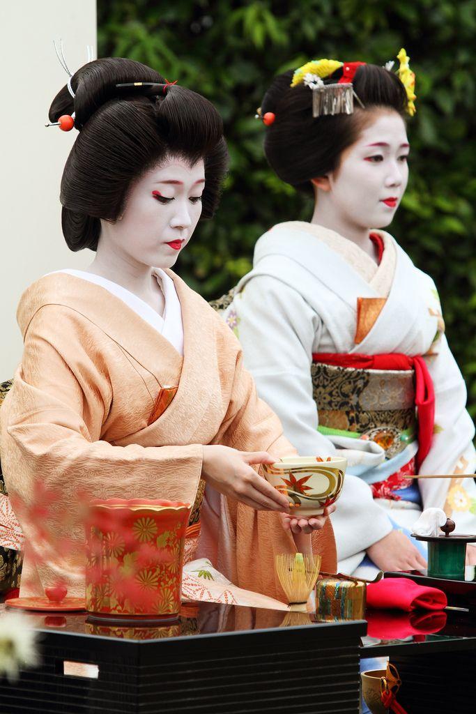 Tea ceremony Kamigamo Shrine, Rakuhoku area in Kyoto.