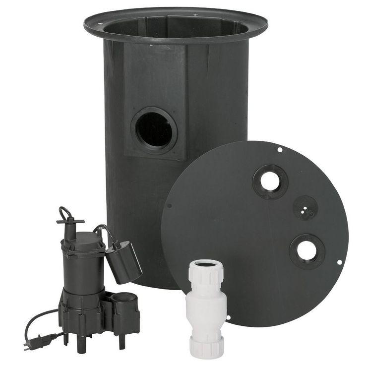 Jensen Flotec 4/10 HP Sewer Pump System (Ejector Sewage 11/32)