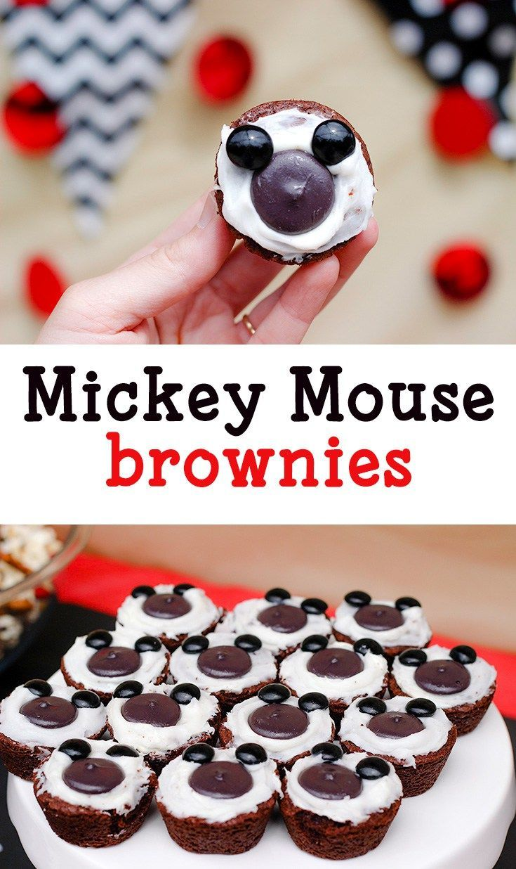 Mickey themed treats Mickey Mouse brownies for mickey party food
