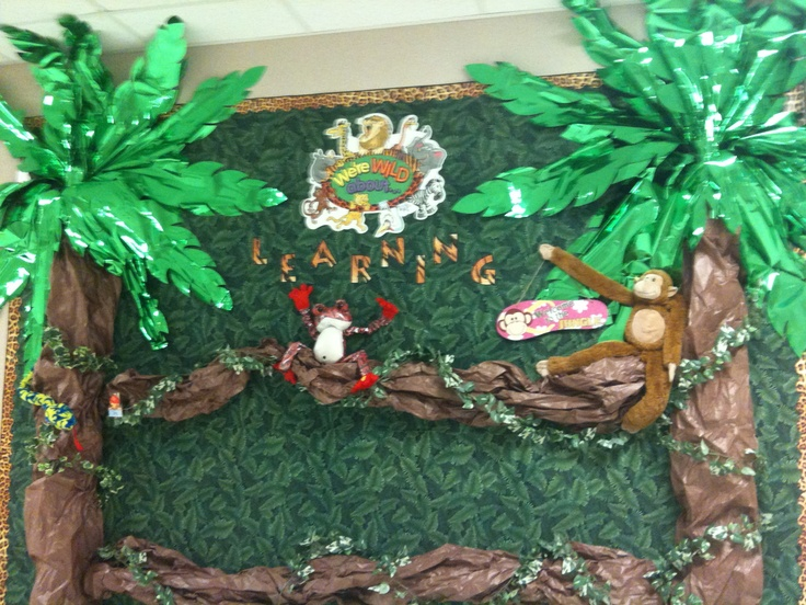Take A Look At My Jungle Themed Bulletin Board For The