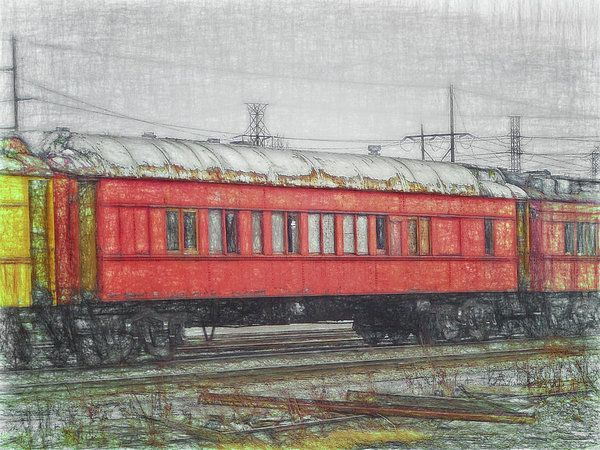 Faded Glory - Middle Of The Line Art Print by Leslie Montgomery.