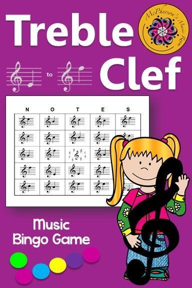 A fun music bingo game to review notes directly on the treble clef staff! Your students will be begging to play it again! Perfect for whole group instruction, centers or for a substitute to facilitate!