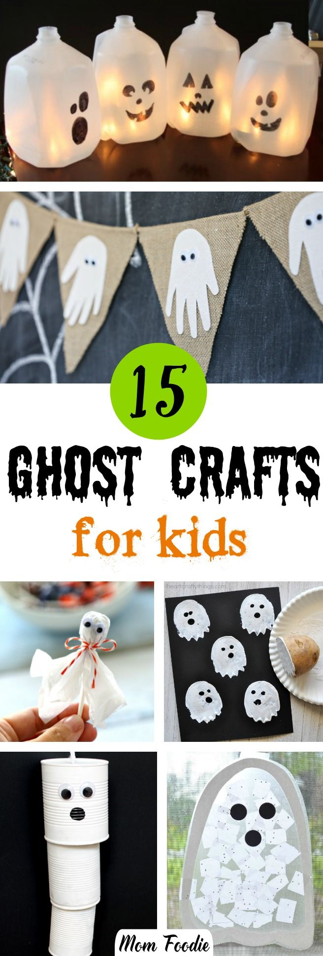 Halloween ghost crafts for kids - easy Halloween c…