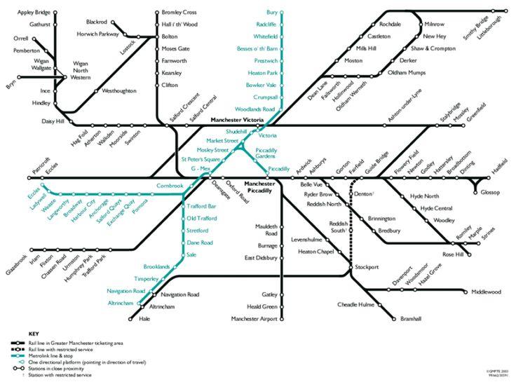 Public transport map.