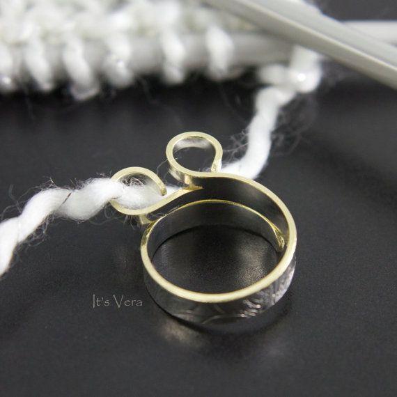 Wider knitting ring, crochet ring, custom rings, stranding ring, double loop ring, loop diameter can be ordered, multi yarn stranding ring