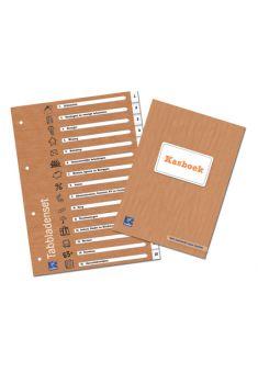 Kasboek en tabbladenset