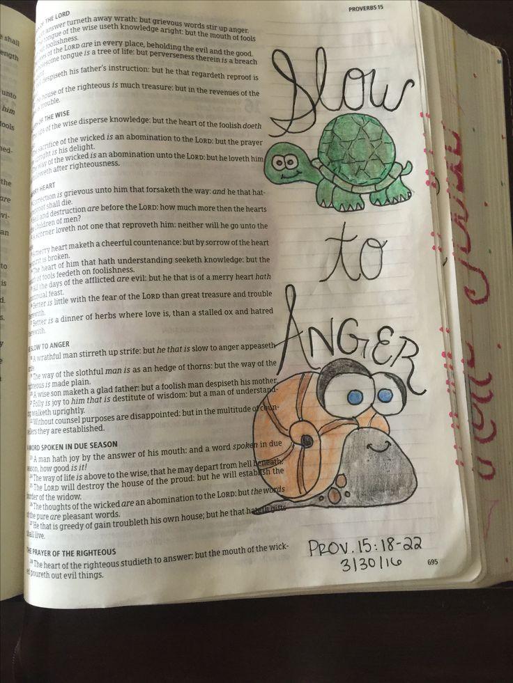 Proverbs 15:18. KJV. Bible journaling. Art. Lindsey Ramsey