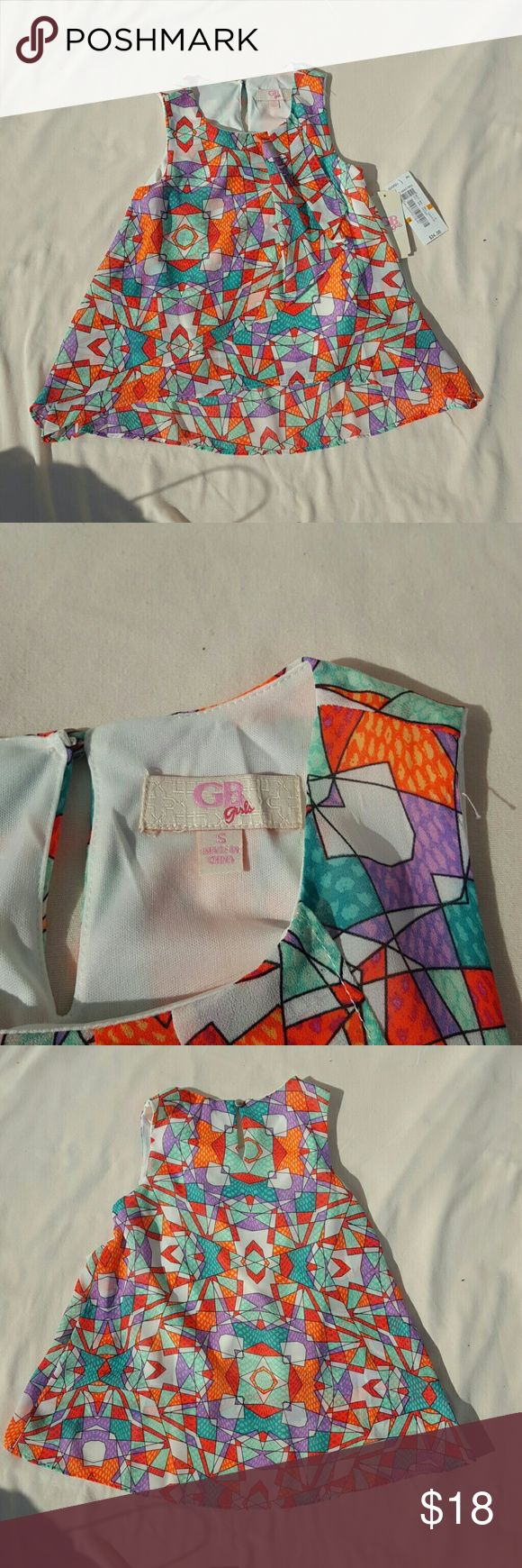 GB girls multi color dress size small NWT flouncy spring dress. 100% polyester. gb Dresses Casual