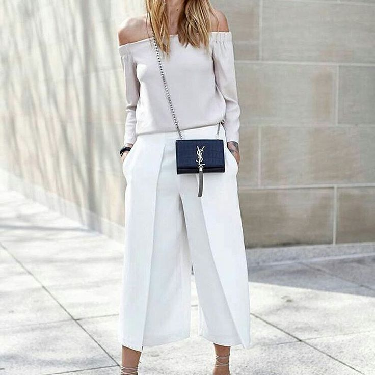 #White #culottepants make your #summerlook more #chic and #classy this #saturday…