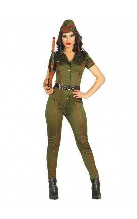 Disfraz de militar antiguo para mujer