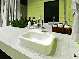bathroom render SU+vray