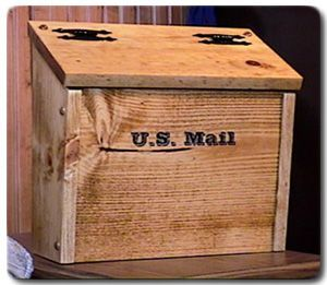 {{Not a DIY}} Rural mail delivery box design idea for packages ~ Papa, here's my idea for building this: make w/a solid top so rain/snow won't leak in, hinged to open with a handle in front of unit & big enough for amazon packages!
