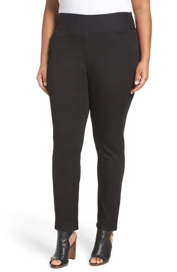 Foxcroft Slimming High Rise Pull-On Pants (Plus Size) 2