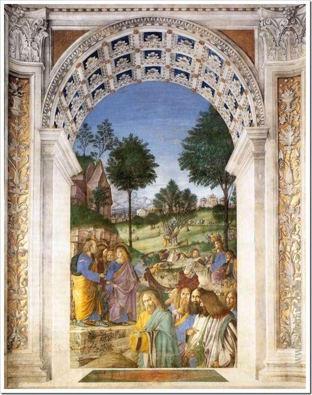 Вход Господень в Иерусалим. После 1484. Ризница Сан-Марко базилики Санта делла Каса. Лорето. Италия