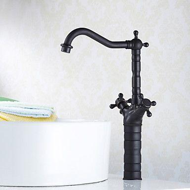 traditionalvesselceramicvalvetwohandlesonehole waschbecken armaturenbronze - Kohler Armaturen L Eingerieben Bronze