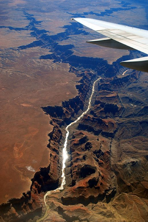 100 Incredible Views Out Of Airplane Windows. Grand Canyon, Arizona