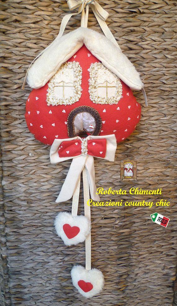 Casetta natalizia in pannolenci casetta da appendere fuori