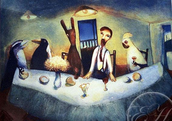 "Garry Shead   ""The Supper"