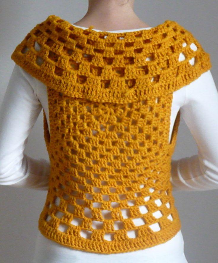 67 best Crochet chaleco abierto images on Pinterest | Crochet vests ...
