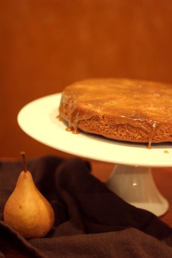 Talia's Treats: Ginger Pear Cake w/ Sticky Toffee Glaze