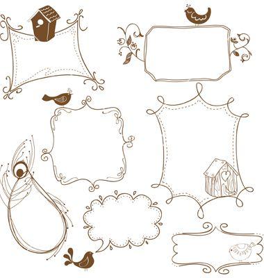 frame doodles | sketching ideas | Pinterest